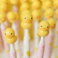 TryTry 8pcs Cute Novelty Cool Cartoon Animal Duck Chick 2B Mechanical Pencils Set Gifts Prizes For Kids Kindergarten School Students