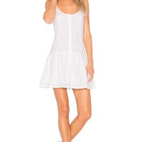 Clayton Vine Eyelet Maddie Dress in White