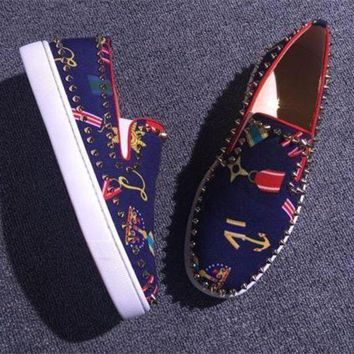VON3TL Cl Christian Louboutin Flat Style #755
