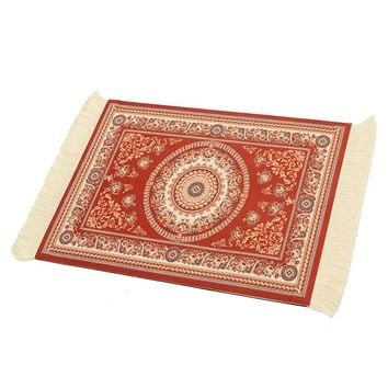 180 x 280mm Vintage Mouse Pad Mouse Mat Woven Rug Gaming Mouse Pad Square Keyboard Mat Gamer Table Mat Office Gift Home Decor