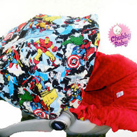 Infant Car Seat Cover, Baby Car Seat Cover in Marvel, Super Heros