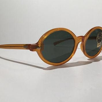 Vintage Ray Ban Sunglasses,Vintage 60s 70s Ray Ban Tenley Bausch and Lomb Oval Sunglas