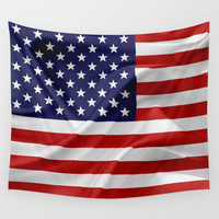 The Flag of the United States of America Wall Tapestry by Digital2real