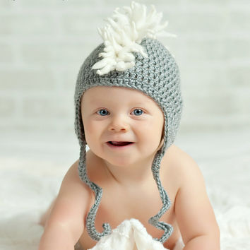 Newborn Baby Boy Baby Girl Toddler Child Crochet Mohawk Hat Beanie Punk Photography Prop
