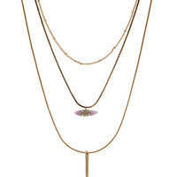 Electric Spike Stone Layered Necklace