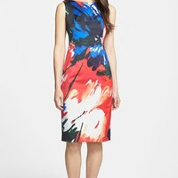 Women's Lafayette 148 New York 'Faith' Print Sleeveless Sheath Dress