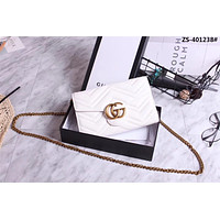 GUCCI GG WOMEN LEATHER CHAIN SHOULDER BAG