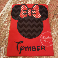 Girl Mouse Custom embroidered Disney Inspired Vacation Shirts for the Family!