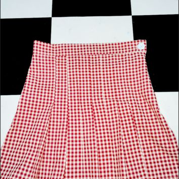 SWEET LORD O'MIGHTY! GINGHAM TENNIS SKIRT IN RED