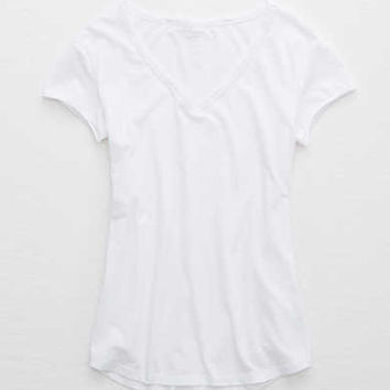 Aerie Real Soft® V-Neck Tee, White