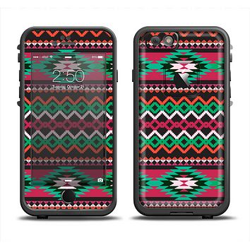 The Vector Green & Pink Aztec Pattern Apple iPhone 6 LifeProof Fre Case Skin Set