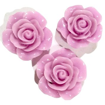 Lavender flower resin cabochon 18mm / 1-5 pieces
