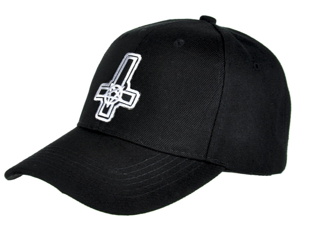 90042731567 Inverted Cross Pentagram Hat Baseball Cap Occult Metal Clothing.  19.95  from Dysfunctional Doll