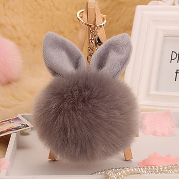 10color trinket Keychain pompons keychains cut fake fur Keychain pompom pumponchik Keychain fur llaveros pompom llaveros mujer