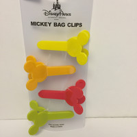 Disney Parks Mickey Icons Bag Clip Set of 4 New with box