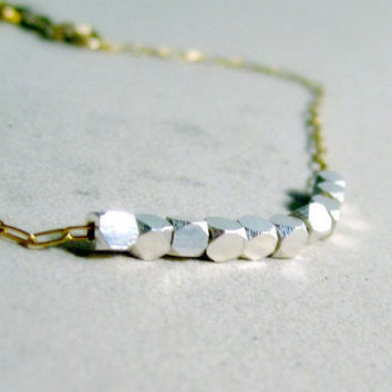 Gold Silver Bracelet Gold Silver Jewelry Unique Handcrafted jewelry Dainty Fashion Jewelry