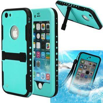 oneCase 4.7 inch Screen Case Protective Cover with Hand Strap & Headphone Adapter for Apple iPhone 6 - Blue