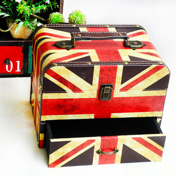 Home Decor Engliand Flag England Style Storage Decoration Accessory Box [6282929094]