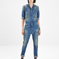Totokaelo - 6397 Dirty Faded Lightweight Denim Jumpsuit - $595.00
