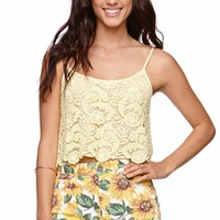 LA Hearts Crochet Cropped Cami - Womens Shirts -
