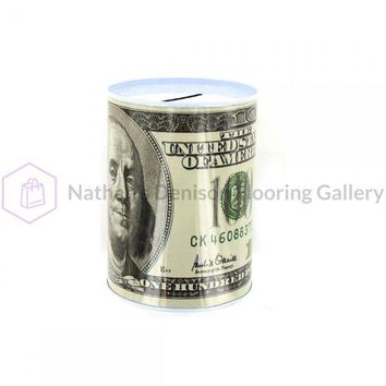 100 Dollar Bill Tin Money Bank GM005