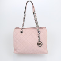 Michael Kors Susannah Quilted Leather Medium Tote