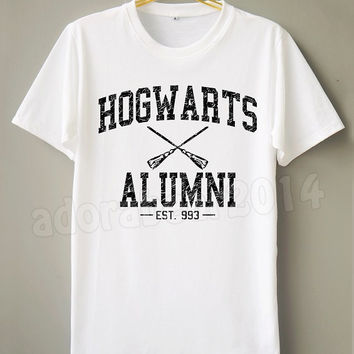Stone Hogwarts Alumni T-Shirt Harry Potter T-Shirt Stone T-Shirt White T-Shirt Short Sleeve Shirt Unisex T-Shirt Women T-Shirt Men T-Shirt