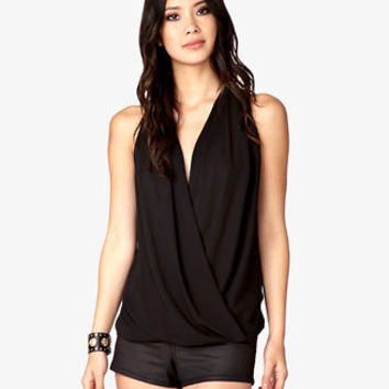 Lace Paneled Surplice Top | FOREVER 21 - 2036326684