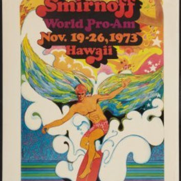 Surfing Competion Vintage Art Poster 24x36 Replica