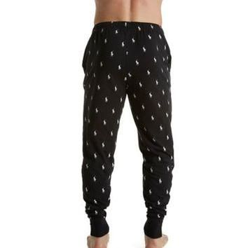Polo Ralph Lauren Pony Player Print Knit Jogger Sleep Pant PK03SR - Polo Ralph Lauren