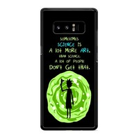 Rick And Morty Sometimes Science Samsung Galaxy Note 8 Case