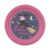 Have A Bewitching Halloween! Paper Plate