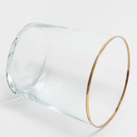 SILVER EDGE GLASS TUMBLER - Glasses - Glassware - Tableware | Zara Home United Kingdom
