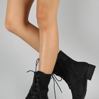 Rio-5 Military Lace Up Ankle Bootie
