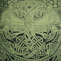Celtic Tree of Life Infinity Knot Druid Pagan Tapestry Wall Hanging Bedspread