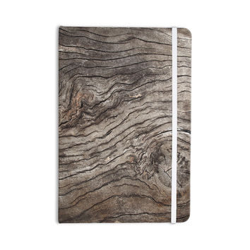 "Susan Sanders ""Tree Bark"" Brown Wooden Everything Notebook"
