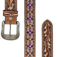 Ariat® Blossom Hand Painted & Tooled Women's Belt 10010092