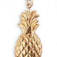 Now or Never Golden Pineapple Necklace