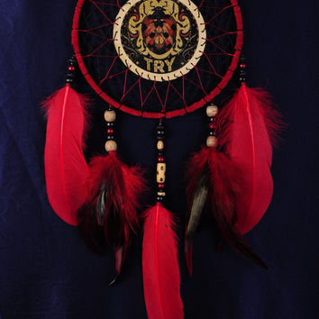 Dreamcatcher black red Сrescent Dream Catcher Large Dreamcatcher Dream сatcher dreamcatchers boho black dreamcatchers wall decor handmade