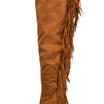 Privileged Primrose Fringe Boot (Chestnut)