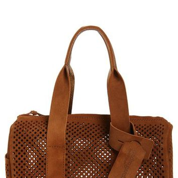 Pedro Garcia Perforated Suede Barrel Bag | Nordstrom