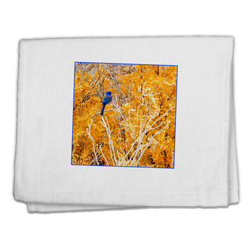 "Blue Bird in Yellow 11""x18"" Dish Fingertip Towel"