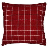 "Hand Woven Red Plaid Pillow 18""x18"" -Threshold™ : Target"