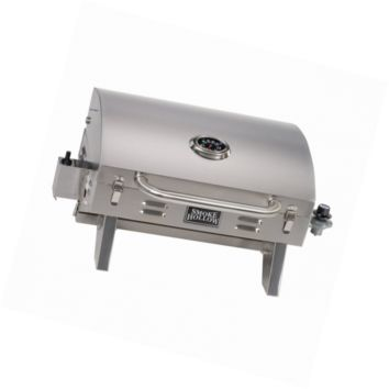 Smoke Hollow 205 Stainless Steel TableTop Propane Gas Grill, Perfect for tailgat