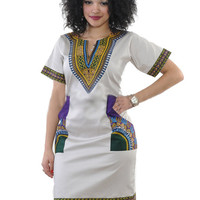 Women Dashiki  African Clothes Short Sleeve