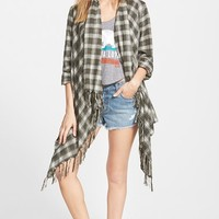 Junior Women's Billabong 'Live it Up' Flannel Cardigan,