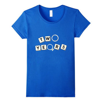 2nd Year Anniversary T-Shirt / Cute Gift for Her or Him