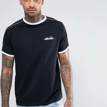 Ellesse T-Shirt With Gold Piping at asos.com