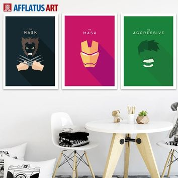 Cartoon Superhero Iron Man Hulk Wall Art Canvas Painting Nordic Movie Posters And Prints Wall Pictures Kids Room Bedroom Decor