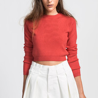 Tomato Cropped Knit
